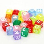 Coloured Letter Beads