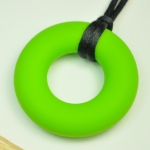Silicone Pendant Lime Green Circle