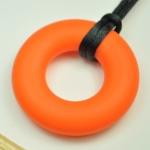 Silicone Pendant Orange Circle