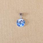 Blue flower resinpendant