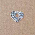 Heart in flowers 30 x 30mm