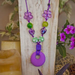 Purple Heart -Purple and green with purple hearts and flowers