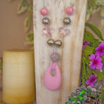 Romance - pink and silver on silver cord