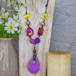 Purple & yellow twirl with purple teether